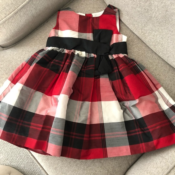 Gymboree Other - Gymboree 18-24 Plaid Party Dress Red Black